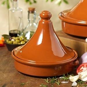 Amazon.com: Tagine Terra Cotta Cookware (9 in tall x 10 in wide