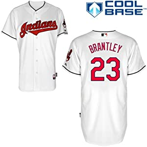 Michael Brantley Cleveland Indians Home Authentic Cool Base Jersey by Majestic by Majestic