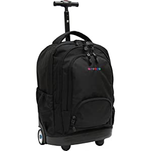 J World New York Sunbeam Rolling Laptop Backpack (Black)