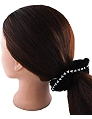 Anuradha Art Black Colour Stylish Hair Accessories Hair Band Stylish Rubber Band For Women/Girls