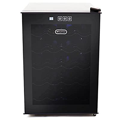 Whynter 20 Bottle Thermoelectric Wine Cooler with Black Tinted Mirror Glass Door