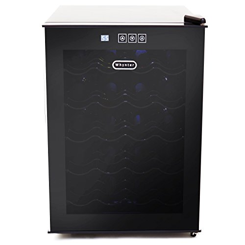 Whynter 20 Bottle Thermoelectric Wine Cooler with Black Tinted Mirror...