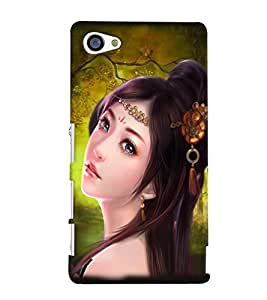 Fuson Cute Girl Back Case Cover for SONY XPERIA Z5 COMPACT - D3630