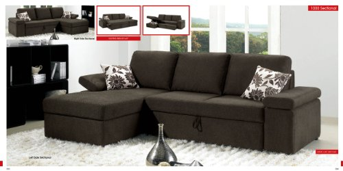 Sectional Sofa Bed With Storage 5345 front
