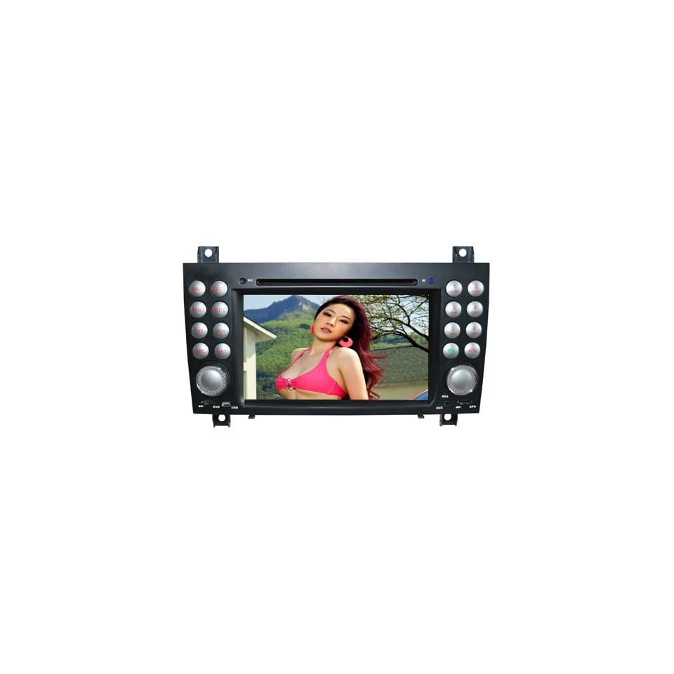 Piennoer In Dash Navigation Original Fit Mercedes Benz SLK W171 R171 6 8 Inch Touchscreen Double DIN Car DVD Player & In Dash Navigation System,Navigator,Built In Bluetooth,Radio with RDS,Analog TV, AUX&USB, iPhone/iPod Controls,steering wheel control, rea