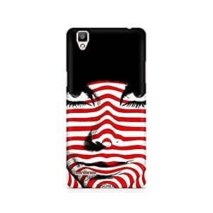 Ebby Red Striped Girl Premium Printed Case For Oppo F1 plus