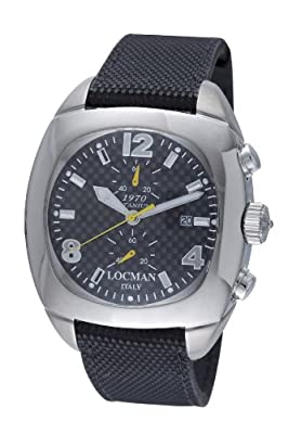Locman Men's 1974CRBQ 1970 Collection Steel/Titanium Watch