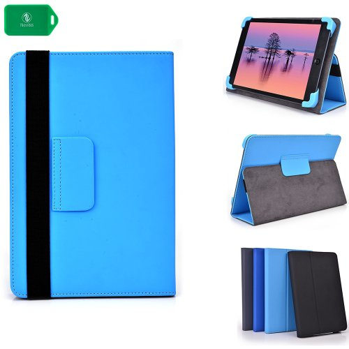 "Slim Bookstyle Tablet Cover Case Plus Stand[ Baby Blue] Universal Fit ] Pioneer 7"" Tablet"