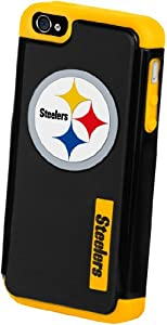Forever Collectibles Pittsburgh Steelers Rugged Dual Hybrid Apple iPhone 4 & 4S... by Forever Collectibles