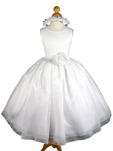 A8004a NEW White Flower Girl Communion Pageant Easter Dress Size 2 to 12 (8, White - Your order will be shipped out on the same or next business day. Orders arrive in 3 to 5 business days.)