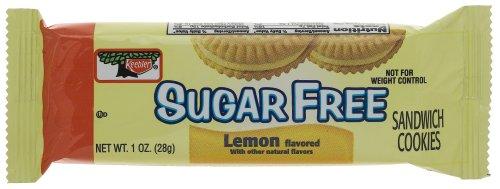 Keebler Sugar Free Lemon Sandwich (3-Count) Cookies, 1-Ounce Single Serve Packs (Pack of 120)