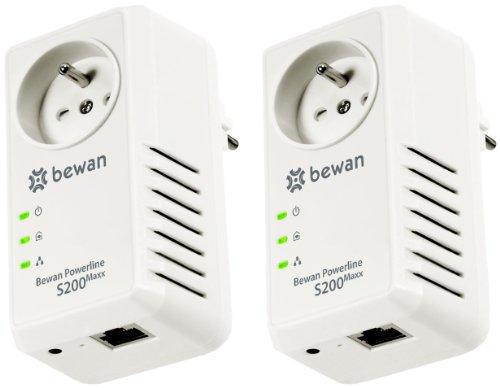 Bewan powerline s200 maxx duo adaptateur cpl avec prise et - Prise cpl sfr ...
