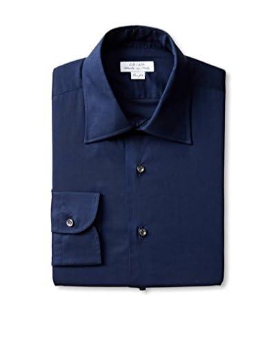 Orian Men's Slim Fit Solid Poplin Dress Shirt