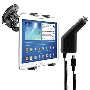 kwmobile® Robuste Tablethalterung für das Samsung Galaxy Tab 3 10.1 P5200 / P5210 / P5220 + Ladegerät - VARIABEL EINSTELLBAR - mit Tasche verwendbar. Qualität.