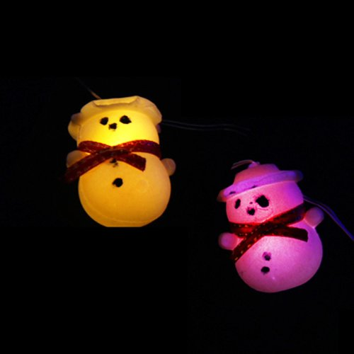 Innoo Tech**Battery Operated 9.8 Feet/3M Cooper Wired 30 Snowman Led String Fairy Light Rygb Multi Color