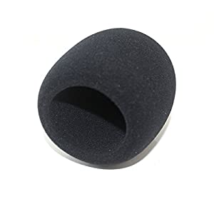 Weymic® Th23 Large Size Black Foam Windscreen for Blue Yeti, Mxl, Audio Technica, and Suitable for Most Large Condenser, Dynamic or Ribbon Mics Studio Recording Condenser Microphones - Size 55*100mm-ideal for Large Size Condenser Recording Type Mics 1pc