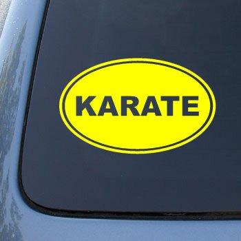 KARATE EURO OVAL - Martial Arts - Vinyl Car Decal Sticker #1723 | Vinyl Color: Yellow