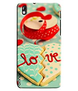 Omanm Broken Heart Made Of Cookies With Love Printed Designer Back Cover Case For HTC Desire 816