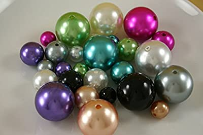 Dreampartycreation Elegant Vase Fillers 250 Assorted Oversized Pearls Beads Wholesale BULK BUY!!!