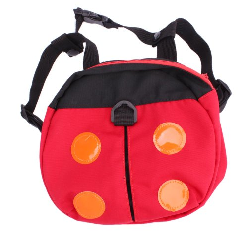 Micromall(Tm) Mom'S Helper Baby Toddler Walking Assistant Child Keeper Safety Harness Strap Ladybug Pattern Backpack Bag