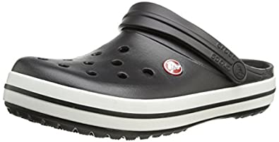 crocs Unisex Crocband Clog,Black,Men's 4 M US/ Women's 6 M US
