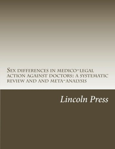 Sex differences in medico-legal action against doctors: a systematic review and and meta-analysis