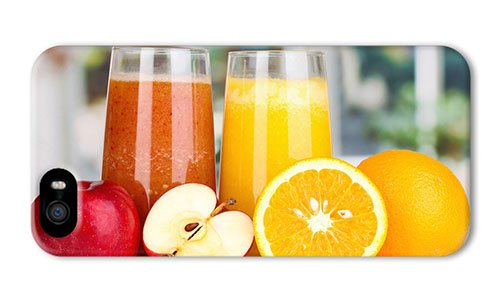 Do It Yourself Diy Iphone 5 Case Custom Covers Nutritious Juice Apples Oranges Pc 3D For Apple Iphone 5/5S front-1065166