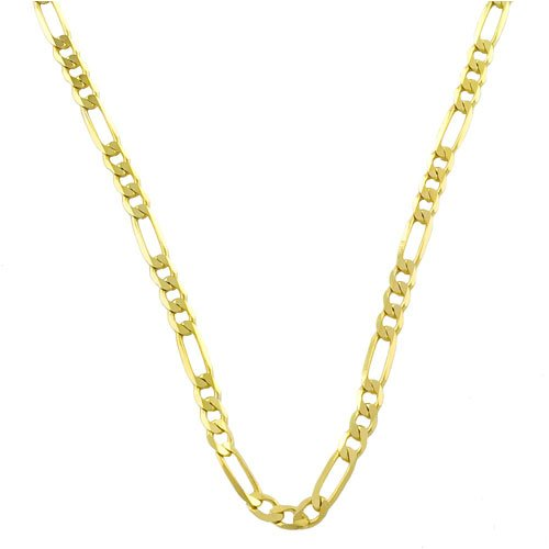 Essential 10 Karat Yellow Gold 3mm Figaro Unisex Chain 18 Inch