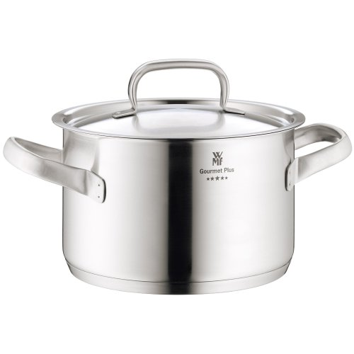 WMF Gourmet Plus 18/10 24-cm Stainless Steel high Casserole with Lid, 5.7 Litres