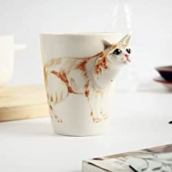 Fashion 3D Animals Pattern Ceramic Cups And Mugs Funny Female Coffee Mug Tea Cup