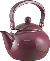 Calypso Basics 2-Quart Non-Whistling Teakettle, Plum