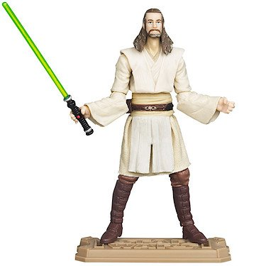 Star Wars Movie Heroes 2012 Qui-Gon Jinn 3.75 inch Action Figure
