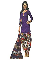 Traditional 2 Trendy Women's Printed Unstitched Dress Material