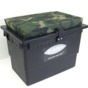 Fladen large fishing tackle box seat with camoflague for Large tackle boxes for fishing