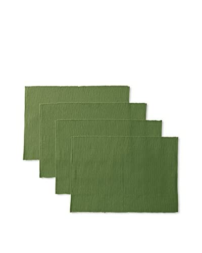 April Cornell Set of 4 Essential Placemats, Green