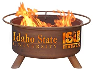 Idaho State University Portable Steel Fire Pit Grill by Patina