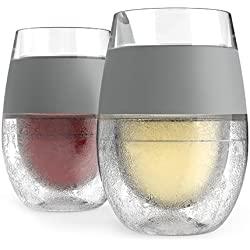 FREEZETM Cooling Wine Glasses (Set of 2) by HOST