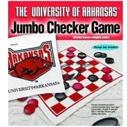 Arkansas Razorbacks Jumbo Chec (RUG 28 in x 28 in | 3 in DIAMETER CHECKERS) CLOTH AND Plastic at Amazon.com