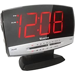 Westclox 80187A Tech Large Display Clock Radio (Westclox 80187A)