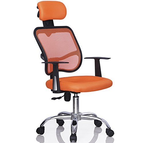 Yaheetech Mesh Chrome Adjustable Executive Office Computer D