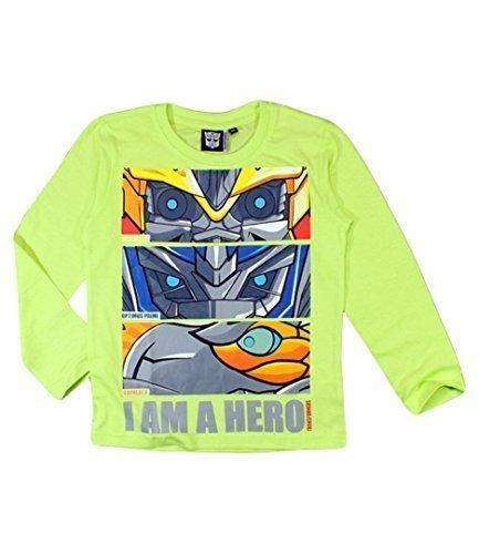 Transformers a maniche lunghe T-Shirt Sono un eroe, Optimus Prime, Lime Giallo lime