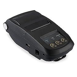 Portable Mini 58mm Bluetooth Thermal Printer - Black (EU Plug)