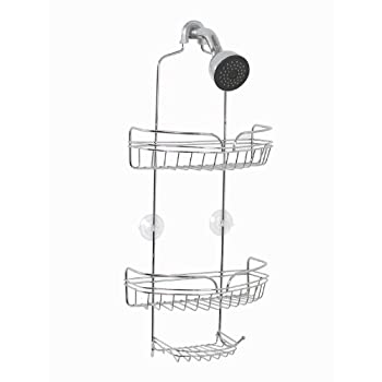 Zenna Home 7529S, Over-the-Showerhead Caddy, Chrome