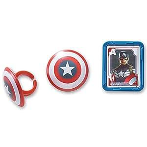 DecoPac Captain America Shield Cupcake Rings