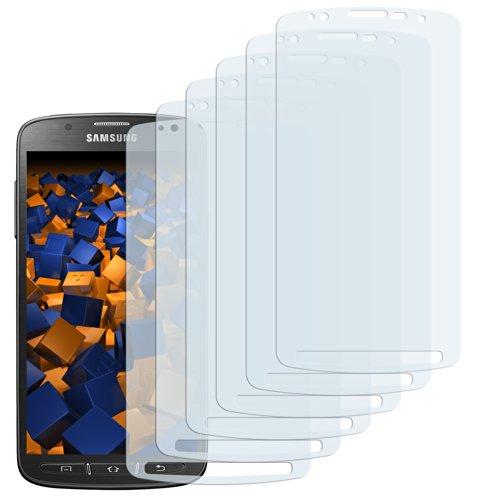 6 x mumbi Schutzfolie Samsung Galaxy S4 Active Folie Displayschutzfolie - NUR für S4 ACTIVE / Nicht für normales S4