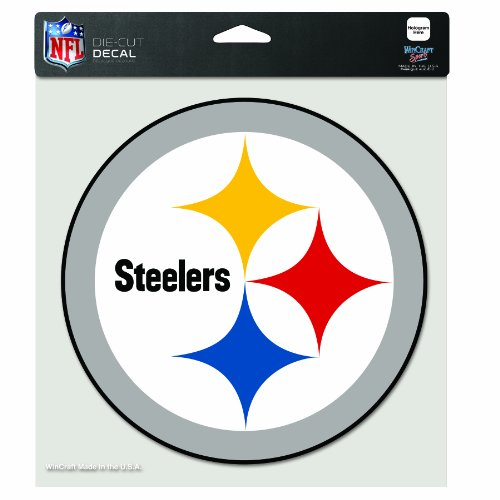 NFL Pittsburgh Steelers 8-by-8 Inch Diecut Colored Decal at Amazon.com