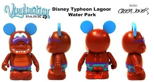 Park Series 9 Typhoon Lagoon Gator Disney Vinylmation 3 inch Figure LOOK Water Park - 1