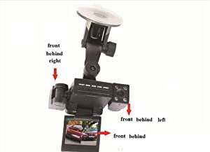 Movewell Transformers Dual Camera Car Black Box DVR 360 degree all aspects capture IR LED Night Vision