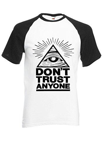 Illuminati-Eyes-Dont-Trust-Anyone-Novelty-BlackWhite-Men-Women-Unisex-Shirt-Sleeve-Baseball-T-Shirt