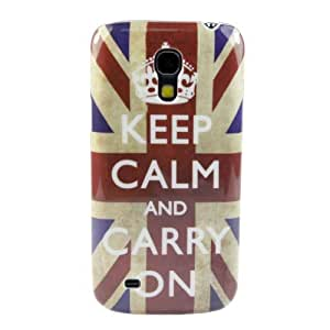 Custodia cover case per Samsung Galaxy S4 Mini I9190 Keep Calm and Carry On Retrò Vintage + 2 Pellicole Omaggio